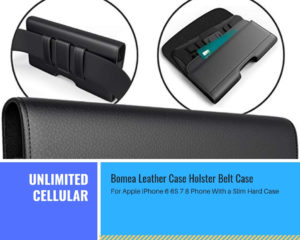 Bomea Leather Case Holster Belt Case