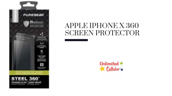 Apple iPhone X 360 Screen Protector with Install Tray